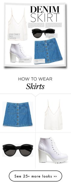 """""""How to rock your denim skirt"""" by ayukmustika on Polyvore"""