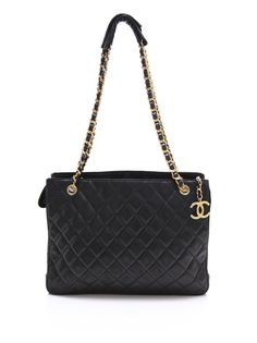 CHANEL VINTAGE Large Quilted Chain Bag