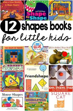 To save you some time I put together my favorite shapes books. Hopefully this list will help your math planning, while also providing you with some great books to teach shapes.