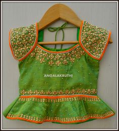 Kids Lehenga Hand embroidery designs-Angalakruthi