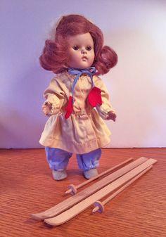 "VOGUE GINNY DOLL,""RARE"" Strung, Hard plastic 1950/51 ""Ski"" Ginny #Dolls"