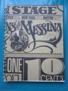 Loggins and Messina On Stage Record Cover Upcycled Notebook Spiral Bound
