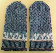 Squirrelly Swedish Mittens by Elli Stubenrauch