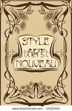 stock vector : Art nouveau frame