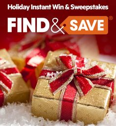 Give yourself a gift for the holidays! Enter daily for a chance to win a $1,000 shopping spree at your favorite store. After you've entered, don't forget to come back daily and play our instant win game. You could win a $10 or $25 gift card to one of your favorite retailers, including Macy's, Target, Kohl's, Best Buy, Walmart and more.