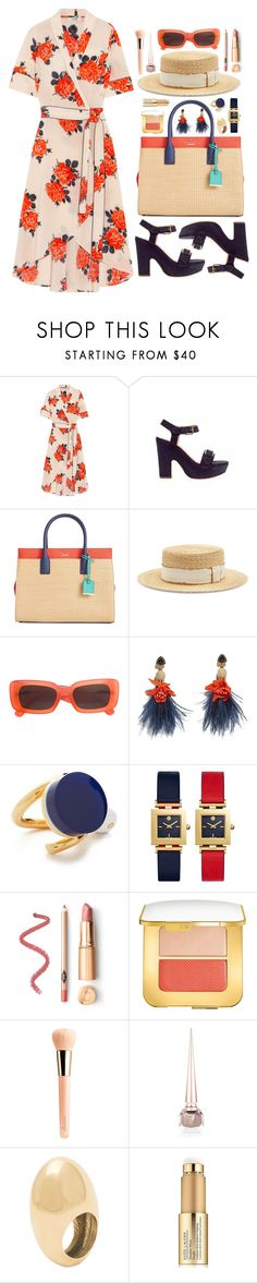 """""""Venezia"""" by touxe ❤ liked on Polyvore featuring Ganni, Rochas, Kate Spade, Filù Hats, Linda Farrow, Lizzie Fortunato, Marni, Tory Burch, Tom Ford and Guerlain"""