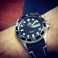 Orient Ray with a Hirsch Liberty strap