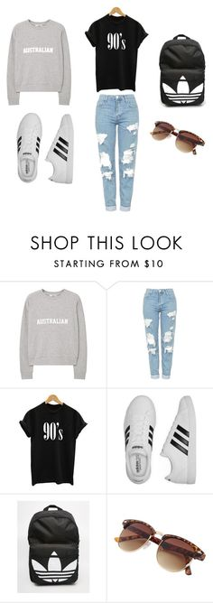 """time for the chillier days"" by ms-fertig ❤ liked on Polyvore featuring MANGO, Topshop and adidas"