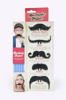 Moustache Straws - Urban Outfitters