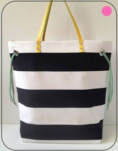 Stripes + Color Tote
