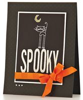 Spooky Cat Card by @Laura Williams - supplies and instructions included