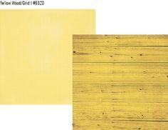 Summer Vibes Simple Basics 12x12 Paper - Yellow Wood/Grid
