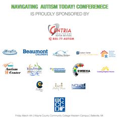 2020 Navigating Autism Today Conference - Autism Alliance of Michigan Wayne County, Bright Future, Community College, Autism, Conference, Michigan, Families, Health Care, Novels