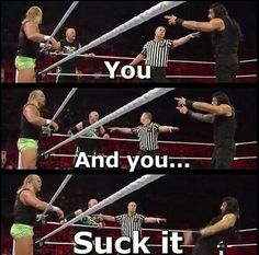 Oh Roman....you cad. Lol