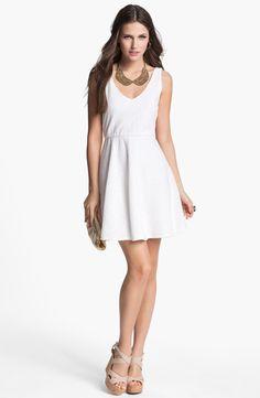 dee elle Textured Skater Dress (Juniors) | Nordstrom