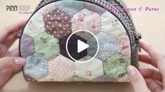 คลิปวีดีโอสอนทำกระเป๋า 23 Hexzagon C Purse ที่ใช้เทคนิคการต่อผ้าหกเหลี่ยมเป็นตัวกระเป๋าชิ้นหน้าและช