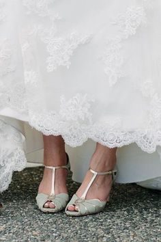 Mimosa T-Straps #weddingshoes