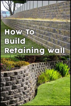 Good Cost-Free cheap Retaining Walls Strategies In case you have your backyard inside Knoxville area, it's likely that you could have found it a challenge in . Large Retaining Wall Blocks, Retaining Wall Cost, Concrete Block Retaining Wall, Retaining Wall Construction, Retaining Wall Design, Building A Retaining Wall, Garden Retaining Wall, Gabion Wall, Modern Landscaping
