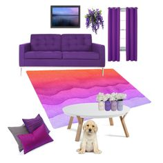 """purpie"" by kayearnold on Polyvore featuring interior, interiors, interior design, home, home decor, interior decorating, Somette, Home Expressions and Americanflat"