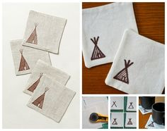 Tee Pee Coasters | 50 DIY Anthropologie Hacks For Every Facet Of Your Life Guest Bedroom