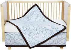 Carter's Elephant 4 Pc Crib Set - Blue - Eleohabts would match prints
