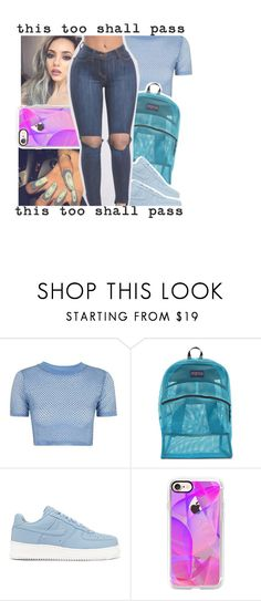 """""""✨✨✨✨"""" by geazybxtch24 ❤ liked on Polyvore featuring Topshop, JanSport, NIKE and Casetify"""