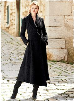 Peruvian Connection | Opera Coat A dramatic standout in your cold-weather wardrobe #timeless #exquisite