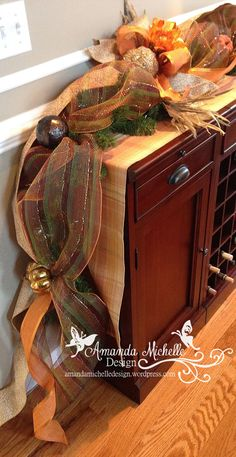 Fall Autumn Holiday Mantel Garland. Rustic by AmandaMichelleDesign
