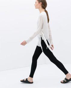 STUDIO SHIRT WITH SIDE BUCKLES - Shirts - WOMAN | ZARA United States
