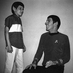 Leonard Nimoy with little Spock