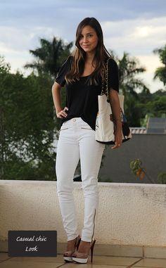 Look Branco e Preto