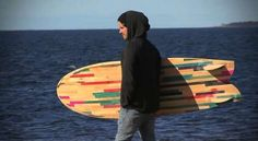 Recycled Deck Surfboards via Trend Hunter Eco