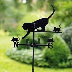❧ cats everywhere - des chats partout ❧ ~ Crazy Cat Lady Decor ~ Crazy Cat Lady, Crazy Cats, I Love Cats, Cool Cats, Weather Vanes, Black Garden, Cat Mouse, Cat Decor, Photos Voyages