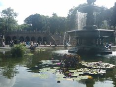 Beautiful Bethesda Fountain in Central Park.