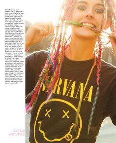 chloe norgaard hair3 Chloe Norgaard Rocks Colorful Braids for Nylon Mexico by Andrew Kuykendall