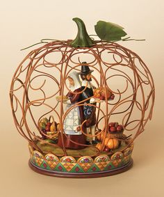 Take a look at this Wire Pumpkin Figurine by Jim Shore on #zulily today!