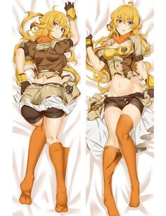 Free Shipping New Japanese Anime  hugging pillow case (Peach Skin 69057 RWBY #Affiliate