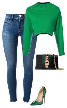 """Untitled #261"" by sb187 ❤ liked on Polyvore featuring Frame, Christian Louboutin, Monse and Gucci"