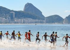 The Fort Copacabana is the starting point for some open air competitions, including the road cycling, marathon swimming and triathlon events. Set at one end of Copacabana Beach, it promises an inspiring atmosphere for athletes headed to the podium. Copacabana Beach, Rio 2016, Summer Olympics, Road Cycling, Olympic Games, Triathlon, Summer 2016, Athletes, Marathon