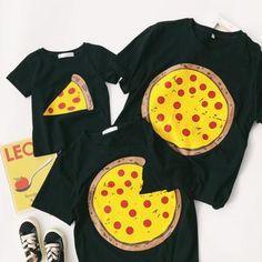 Pizza Matching Family T-Shirts – Cece Match Matching Family T Shirts, Pizza, Cotton, Sweatshirt, Clothes, Ebay, Tops, Fashion, Matching Clothes