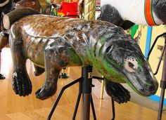 Komodo Dragon Carousel Animal at the Akron Zoo by Paula~Koala, via Flickr