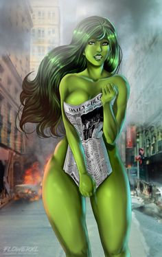 She Hulk by Flowerxl
