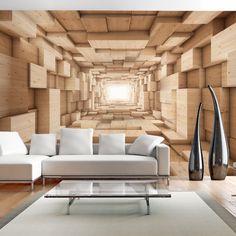 Vlies Fototapete 350x245 cm - 3 Farben zur Auswahl - Top - Tapete - Wandbilder XXL - Wandbild - Bild - Fototapeten - Tapeten - Wandtapete - Wand - Tunnel 3D a-A-0125-a-b