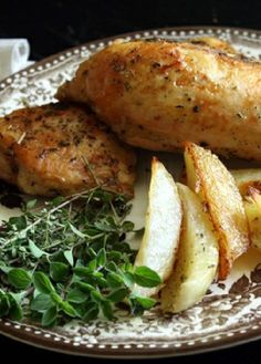Low FODMAP Recipe and Gluten Free Recipe - French chicken with potatoes  http://www.ibs-health.com/low_fodmap_french_chicken_new_potatoes.html