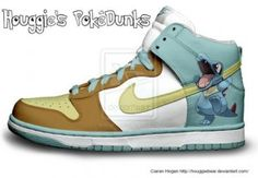 d0f9bcb44b5 Pokemon Totodile Pattern Nike SB Dunk High Top Shoes Totodile live close to  the water.
