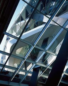 Hélène Binet captures Zaha Hadid Architect's newly opened Port House in Antwerp via dezeen.