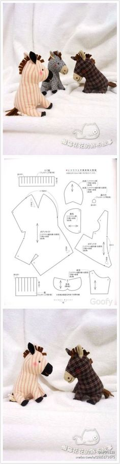 Free Horse Plushie Toy Pattern / Template