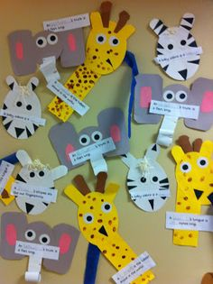 We loved learning about the zoo! I used Julie Lee and Deanna Jump's zoo unit. I think the zoo animal faces created by Julie are so adorable. Zoo Crafts, Animal Crafts For Kids, Animal Projects, Zoo Preschool, Preschool Crafts, Preschool Ideas, Kindergarten, Paper Plate Animals, Animal Activities