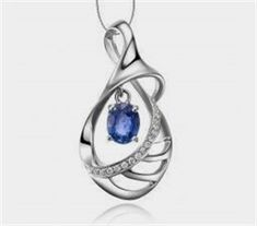 Beautiful Sapphire and Diamond Pendant is sure to enchant its way into her heart with its simplistic style and elegance. Perfect for young women, the beautiful sapphire pendant can be worn at almost all occasions. The pendant comes with its silver chain Simple Jewelry, Modern Jewelry, Jewellery Sketches, Men's Jewellery, Jewelry Drawing, Designer Jewellery, Diamond Jewellery, Jewelery, Jewelry Illustration