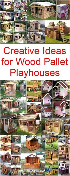 Don't waste the large boards and stacks of wood pallets and recycled them to craft these wonderful-looking pallets playhouse for your lovely kids. These playhouses are not only different and appealing in appearance but at the same time easy and affordable for everyone.